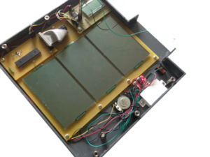 Electromechanical prototype with prototype housing and custom LCDs